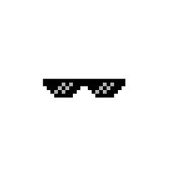 8 bit gangster sunglasses vector