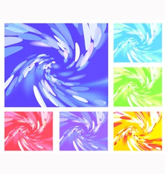 Abstract light vortex different colors vector image