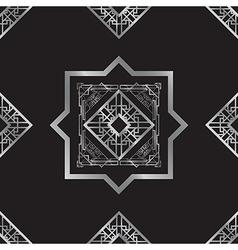 art deco silver vector image
