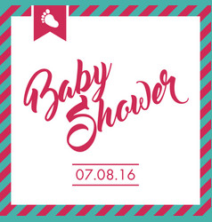 baby shower invite greeting card vector image