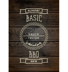 BBQ badges logos and labels for any use vector image