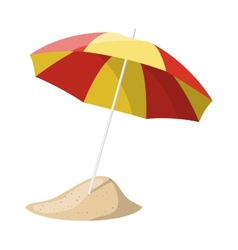 Beach umbrella isolated over white background vector