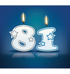Birthday candle number 81 vector