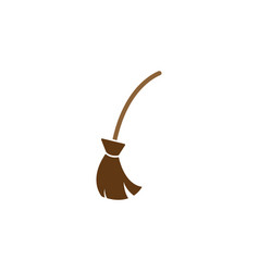 broom icon design template vector image