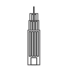building tower skyscraper commercial business vector image