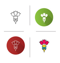 bunch flowers icon vector image