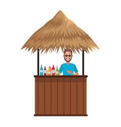 Cocktail beack kiosk vector