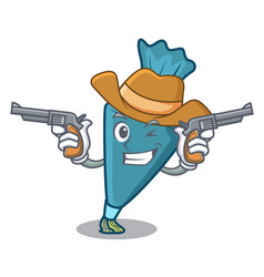 cowboy pastrybag character cartoon style vector image