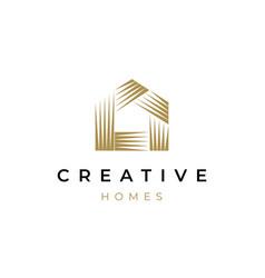Creative house icon logo vector