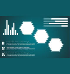 Data and graphic style background business vector