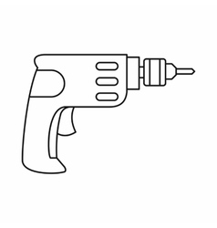 Drill icon in outline style vector