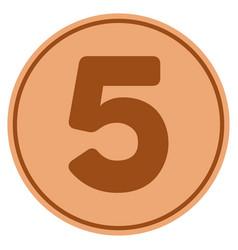 Five bronze coin vector