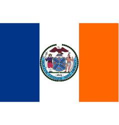 Flag new york city usa vector
