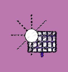 Flat shading style icon solar energy vector