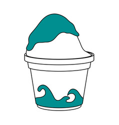 Frozen yogurt icon vector