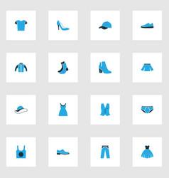 Garment colorful icons set collection vest vector