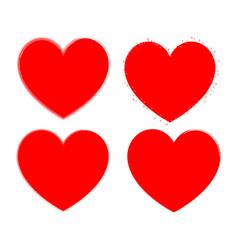 heart set for valentine days red color vector image