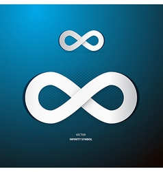 Infinity Symbol on Blue Background vector image