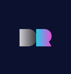 Initial alphabet letter dr d r logo company icon vector