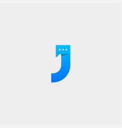 Letter j chat logo template design vector