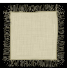 Linen napkin vector