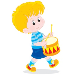 Little drummer vector image