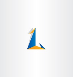 logo letter l triangle icon sign vector image