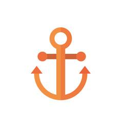 marine life anchor cartoon sea nautical symbol vector image