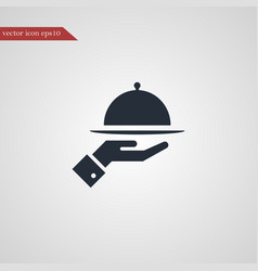 Meal tray icon simple vector