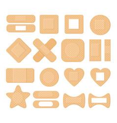 medical plaster elastic bandage patch vector image