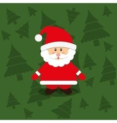 Merry christmas santa claus card vector image