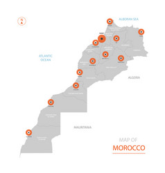 morocco map with administrative divisions vector image