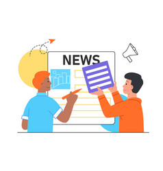 news updating concept vector image