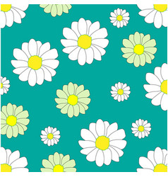 Overlapping petals flower pattern picture vector