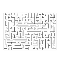 Painting of maze labyrinth Isolated on vector