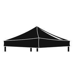 Pavilion tent icon simple style vector