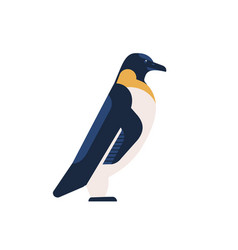 penguin flat arctic bird with vector image
