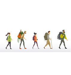 people travel vector image