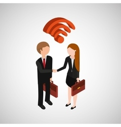 persons concept business wifi vector image