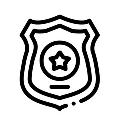 police officer badge icon outline vector image