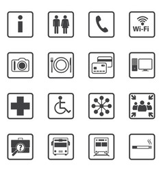 Public icons set vector