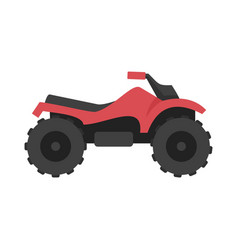 Ride quad bike icon flat style vector