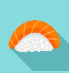 Sake sushi icon flat style vector