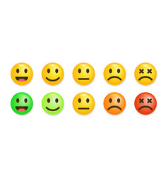 Satisfaction rate icons vector