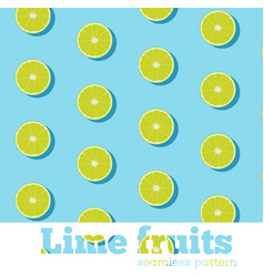 Seamless pattern with fresh limes vector