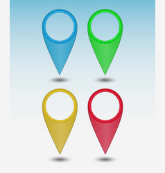 set colors map points vector image