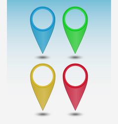 set colors map points vector image
