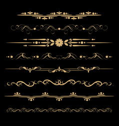 Set decorative delimiters vector