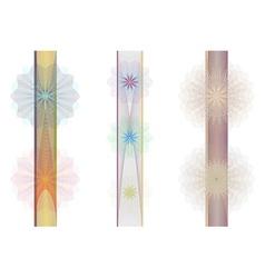 Set of tangier rosettes vector