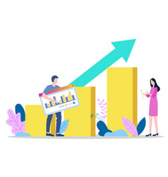 Social media marketing smm experts with analytics vector